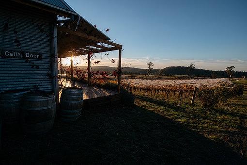 Zig Zag Rd Winery cellar door sunset